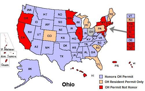 Ohio CCW map